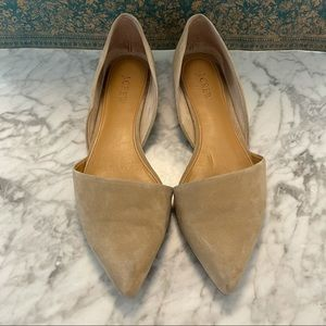 J. Crew Factory Zoey Suede D'Orsay Flats